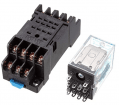 12V DC Relay 14 Pin With Socket