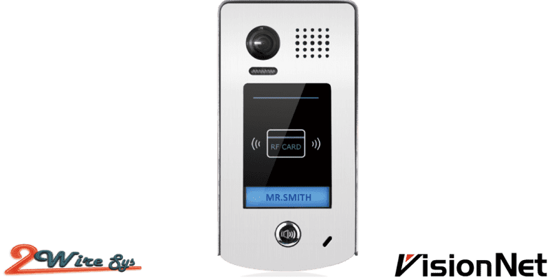 2WIRE SYSTEM COLOR WIDE ANGLE CAMERA WITH PROXIMITY ACCESS CONTROL