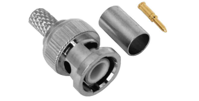 THREE PARTS BNC CONNECTOR GOLD