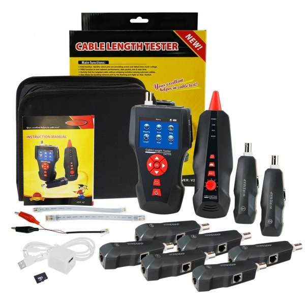 NF-8601W Multi-functional Network Cable Tester LCD Cable length Tester Breakpoint Tester
