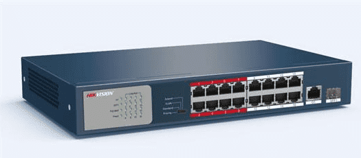 ٍ POE Switch L2, Unmanaged DS-3E0318P-E/M 16 Ports